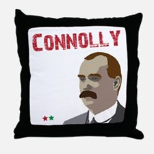 James Connolly quote on black Throw Pillow