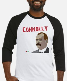 James Connolly quote on black Baseball Jersey