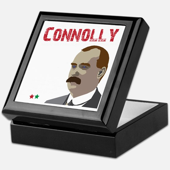 James Connolly quote on black Keepsake Box