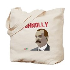 James Connolly quote on black Tote Bag