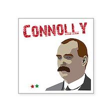 """James Connolly quote on bla Square Sticker 3"""" x 3"""""""