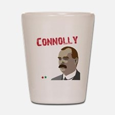 James Connolly quote on black Shot Glass