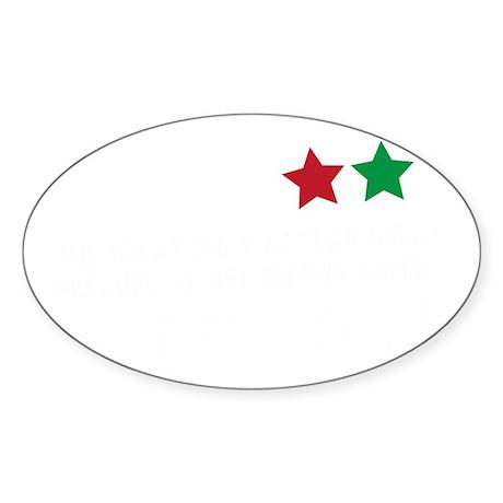 Jim Larkin quote white Sticker (Oval)