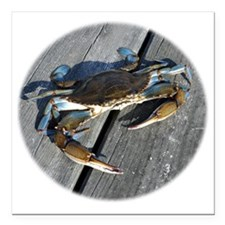 "crabonly Square Car Magnet 3"" x 3"""
