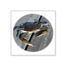 "crabonly Square Sticker 3"" x 3"""