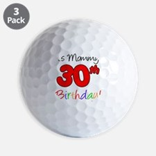 Mommys 30th Birthday Golf Ball