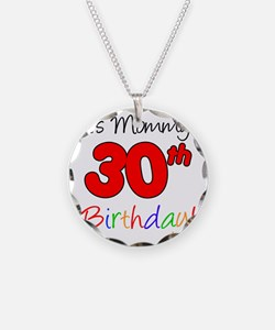 Mommys 30th Birthday Necklace