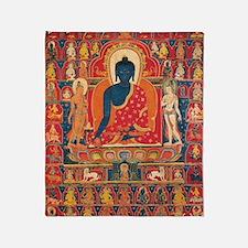 buddhablue Throw Blanket