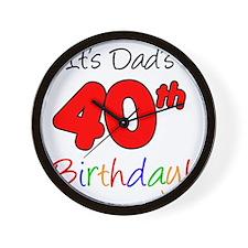 Dads 40th Birthday Wall Clock