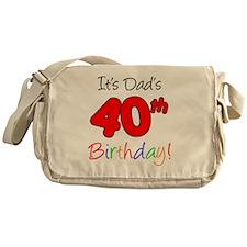 Dads 40th Birthday Messenger Bag