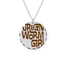 UWG_Logo_Brown_transp Necklace Circle Charm