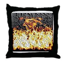 bj - fire Throw Pillow