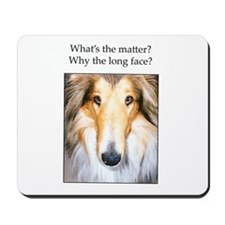 Long Face Collie Mousepad