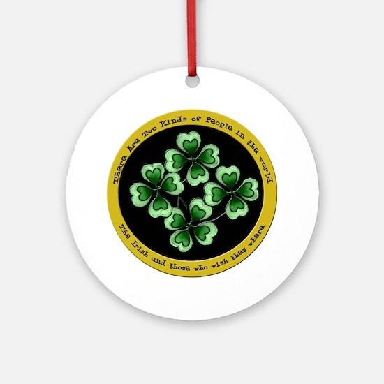 Irish Saying Round Ornament