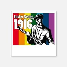 "1916 Easter Rising 10x10 da Square Sticker 3"" x 3"""
