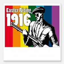 """1916 Easter Rising 10x10 Square Car Magnet 3"""" x 3"""""""
