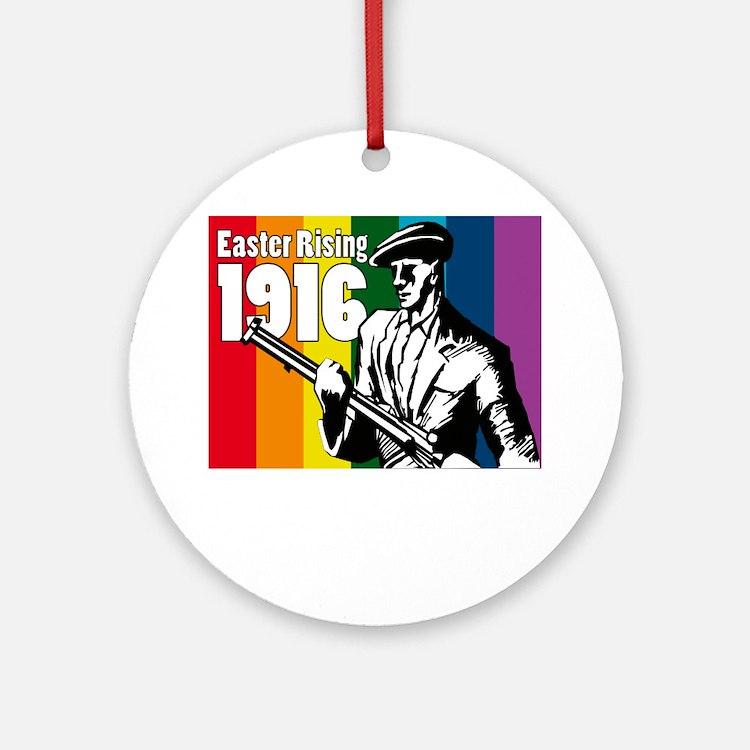1916 Easter Rising 10x10 dark Round Ornament