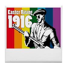 1916 Easter Rising 10x10 dark Tile Coaster