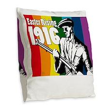 1916 Easter Rising 10x10 dark Burlap Throw Pillow