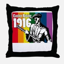 1916 Easter Rising 10x10 dark Throw Pillow