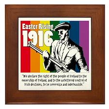 1916 Easter Rising 10x10 white Framed Tile