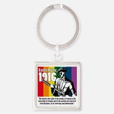 1916 Easter Rising 10x10 white Square Keychain
