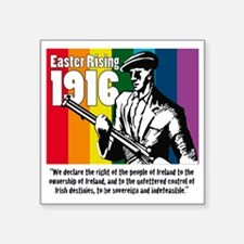"1916 Easter Rising 10x10 wh Square Sticker 3"" x 3"""
