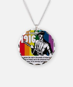 1916 Easter Rising 10x10 whi Necklace