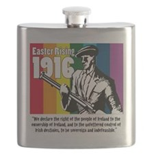 1916 Easter Rising 10x10 white Flask