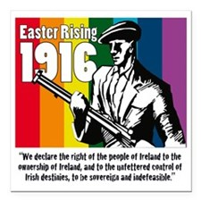 "1916 Easter Rising 10x10 Square Car Magnet 3"" x 3"""