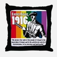 1916 Easter Rising 10x10 white Throw Pillow
