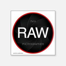 "L-lens-RAW-2 Square Sticker 3"" x 3"""