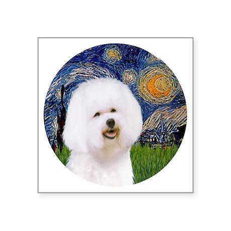 "J-ORN-Starry-Bichon1 Square Sticker 3"" x 3"""
