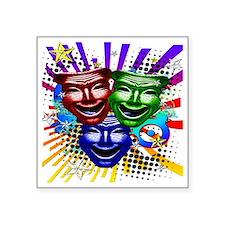 """HYPER_COMEDY#9_11x11_pillow Square Sticker 3"""" x 3"""""""