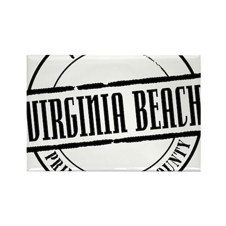 Virginia Beach Title W Rectangle Magnet