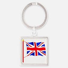 Olympic British Flag Square Keychain