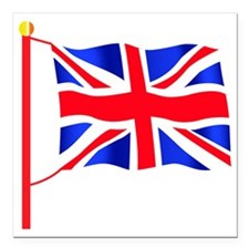 "Olympic British Flag Square Car Magnet 3"" x 3"""