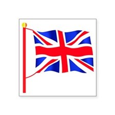 "Olympic British Flag Square Sticker 3"" x 3"""