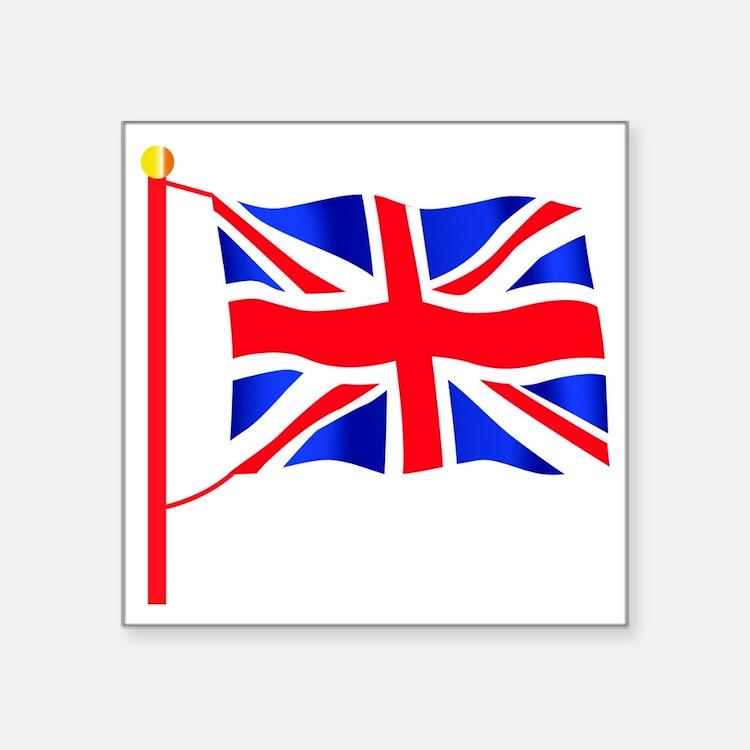 "Olympic British Flag Square Sticker 3"" x 3"""