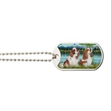 LIC-Birches-TwoCavaliers (BL) Dog Tags