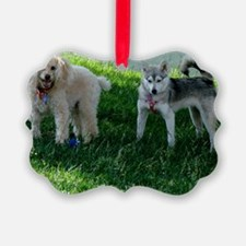 Apricot Poodle and Alaskan Klee K Ornament