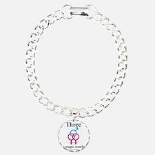 threepinkblue Bracelet