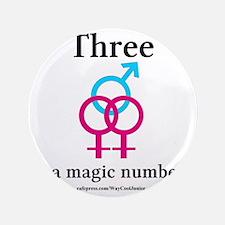 "threepinkblue 3.5"" Button"