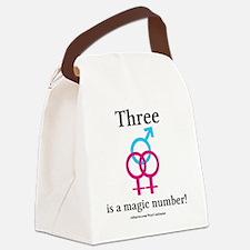 threepinkblue Canvas Lunch Bag