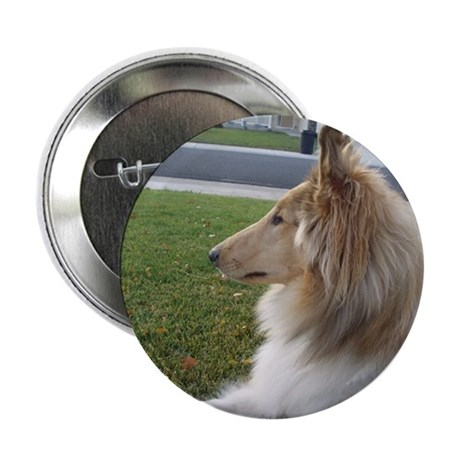 """Collie Profile 2.25"""" Button (10 pack)"""