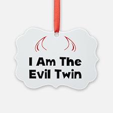 Evil Twin Black Ornament