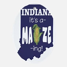 Indiana-Amaizeing Oval Ornament