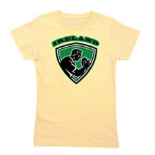 rugby player with ball Ireland shield Girl's Tee