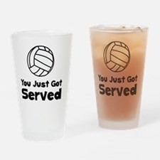 Volleyball Served Black Drinking Glass