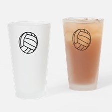 Volleyball Served White Drinking Glass